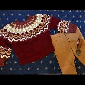 NWT Fair Isle Knit Sweater, Large